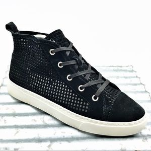 1.State Dulcia Mink Suede Perforated Sneaker